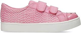 US Size 8XW Pink Combi Textile Clarks Girls Casual Canvas Shoes Pattie Lola EU Size 25 UK Size 7.5H