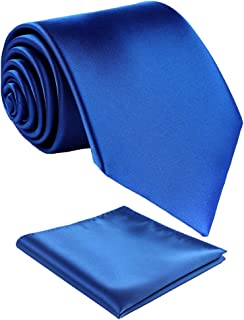 Mens Solid Color Extra Long Neckties,Hademade Ties For Men With Multiple Colors+Gift Box
