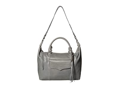 The Sak Sierra Leather Convertible Satchel (Denim) Handbags