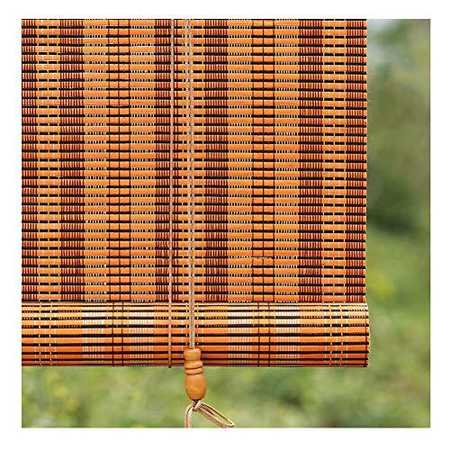 YNGJUEN Bambus Jalousien/Jalousie Vorhänge-Außenterrasse Gazebo Pergola Carport Rollo, Dunkelbraun (Size : 80x160cm)