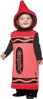 Unisex Child Crayola Crayon Red Toddler Costume