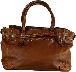 BZNA Bag Mila cognac vintage Italy Designer Business Damen Handtasche Ledertasche Schultertasche Tasche Leder Shopper Neu