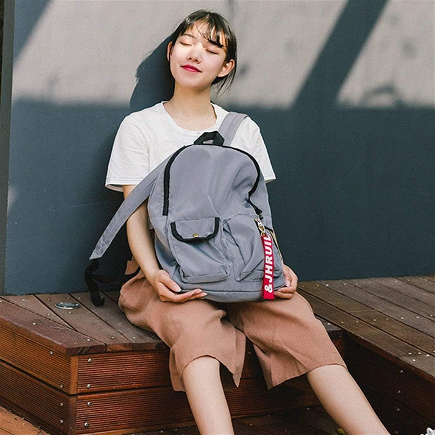 WILRND HOME Personality Backpacks LargeCapacity Student Schoolbag Leisure Travel Laptop Backpack
