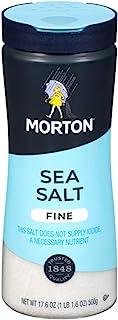 Morton All Purpose Sea Salt, Fine, 17.6 Ounce (Pack of 6)