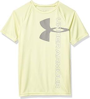 Under Armour Boys' Tech Split Logo Hybrid T-Shirt