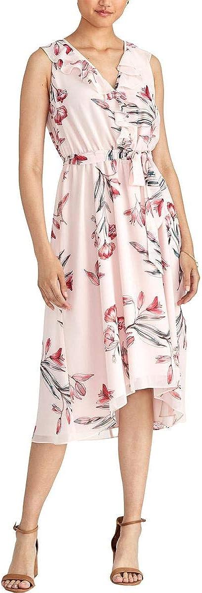 Rachel Roy Womens Odele Printed to Challenge the lowest price of Japan Work Ranking TOP3 Ruffled Dres Wear