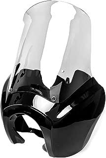 Krator Black & Clear Tall Fairing Windshield Club Style Kit for Harley-Davidson Dyna, Super Glide T-Sport FXDXT, FXR