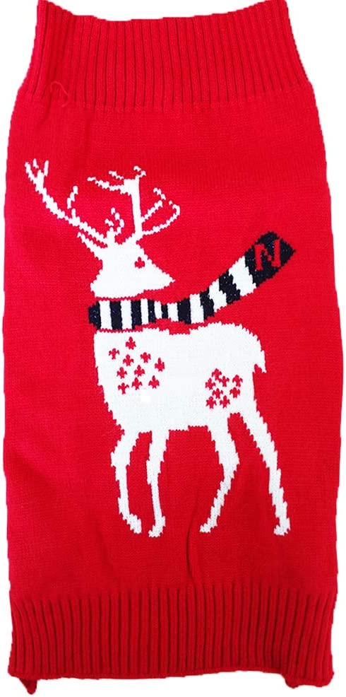 NACOCO Dog Reindeer Sweaters Year New safety Christmas Pet Special sale item
