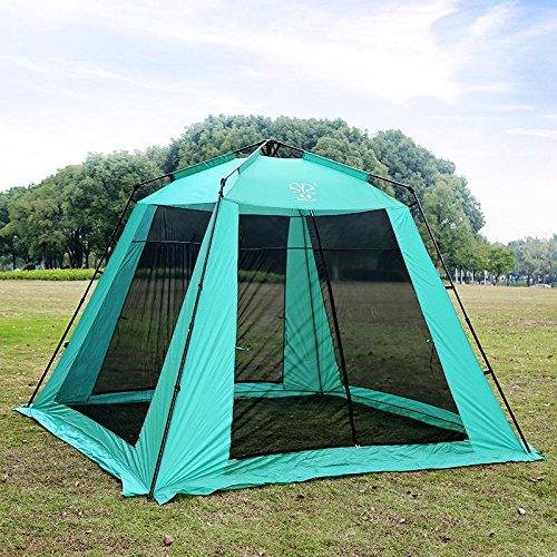 YHKQS-KQS Outdoor Camping Instant Tent Vacances d'été Pare-soleil Peinture unique surdimensionnée et résistant à la pluie Tente de plage / Tente pliante avec sac de transport 300 * 300 * 220 cm