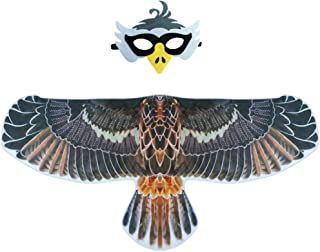 Kids Eagle-Wings Bird Costume and Mask for Boys Girls Halloween Dress Up