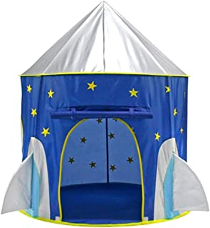 Prettyia Rocket Ship Play Tent Playhouse - Cool Astronaut Space Tent - Foldable Playhouse Toy with Carry Bag for Boys & Girls Indoor and Outdoor Fun