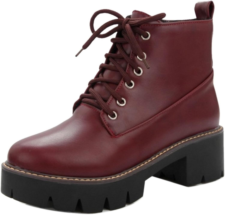 FizaiZifai Women Martin Boots High Top Zip shoes Water Proof