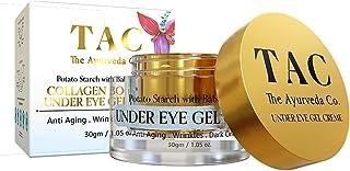 TAC - The Ayurveda Co. Under Eye Cream for Dark Circles & Collagen Boosting with Babchi, Natural Retinol & Hyaluronic Acid...