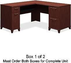 Bush L-Shaped Desk, 60-Inch by 60-Inch by 30-Inch, Mocha