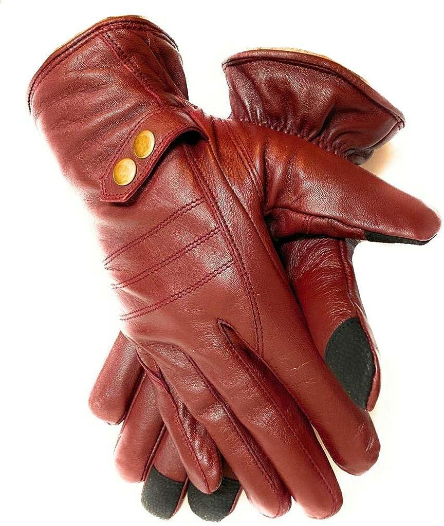 Men's Premium cheap Quality Great interest Lambskin Leather Driving Dress Winter Warm