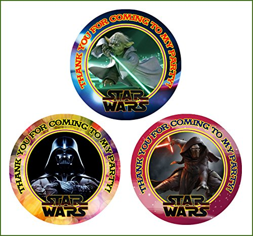 Crafting Mania LLC. 12 Star Wars Birthday Party Favor Stickers (Bags Not Included) #1