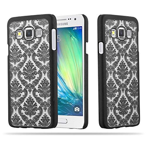 Cadorabo Samsung Galaxy A3 2015 Hardcase Hülle in SCHWARZ Blumen Paisley Henna Design Schutzhülle – Handyhülle Bumper Back Hülle Cover