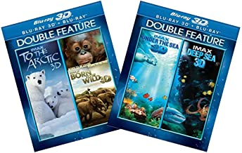Ultimate IMAX Blu-ray 3D Nature & Science 4-Pack Collection: Under the Sea / Deep Sea / To the Arctic / Born to be Wild [Bluray 3D + Bluray Comco]