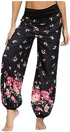 Pantalons Femmes Cordon de Serrage Poches Workout