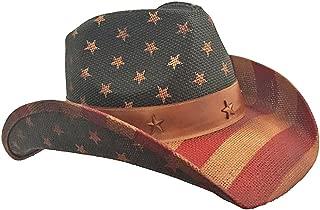 American Flag Vintage Cowboy Hat