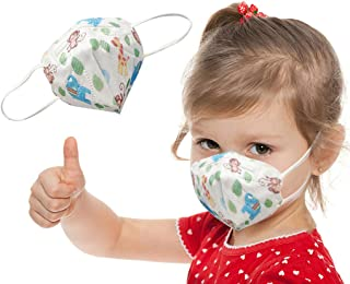 Colorful Dinosaur Printed Kids Disposable_Face_Mask for Boys & Girls Outdoor, Back to School Necessity【Ship from USA】