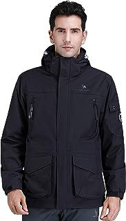 CAMEL CROWN Mens 3-in-1 Ski Jacket Waterproof Winter Coat Warm Mountain Snow Jacket for Rain Outdoor Hiking