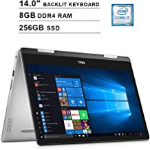 2019 Dell Inspiron 5482 2-in-1 14 Inch Touchscreen FHD Laptop (Inter 4-Core i7-8565U up to 4.6GHz, 8GB DDR4 RAM, 256GB SSD, Intel UHD Graphics 620, Backlit KB, Win 10, Grey) (Renewed)