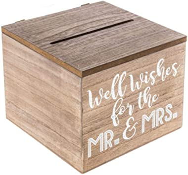 TM Miracle Store Vintage Country Antique Wood Wedding Advice and Good Well Wishes Box