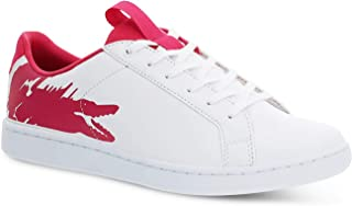 Lacoste Junior Boys Carnaby Evo Trainers Sneakers in White Pink