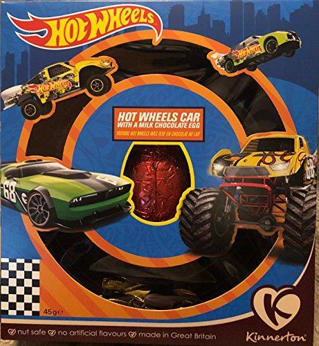 Hot Wheels Car con un uovo al cioccolato al latte