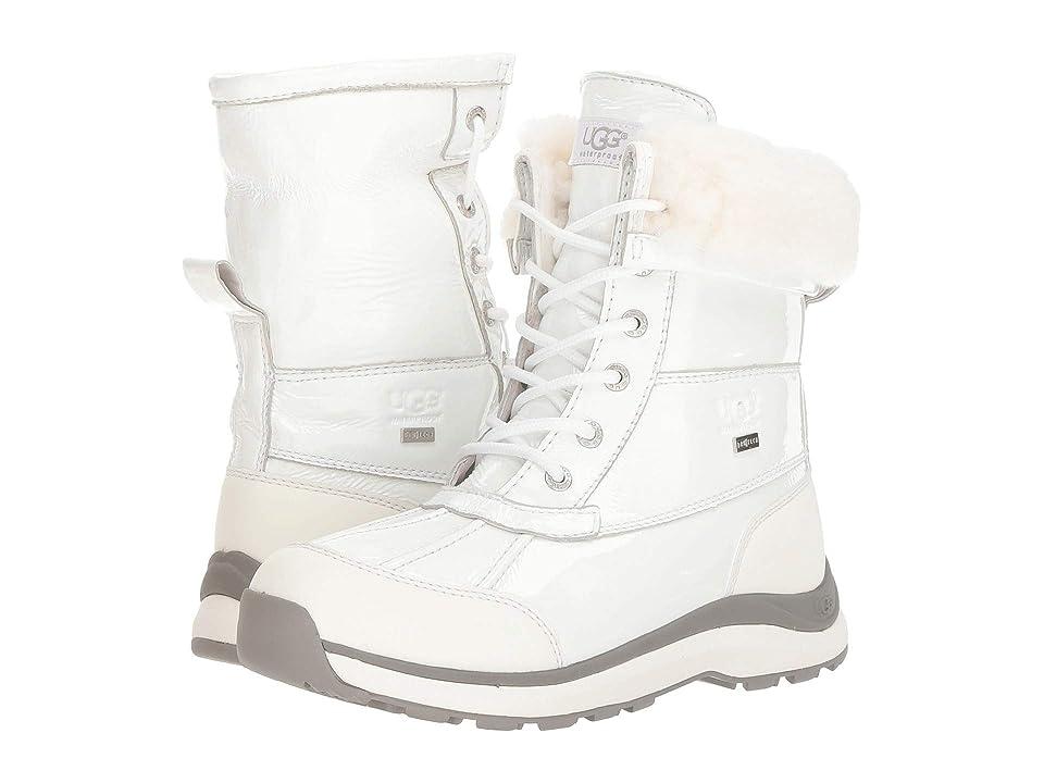 24adff6b351 UGG Adirondack Patent Boot III (White) Women s Cold Weather Boots