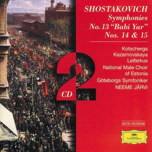 Symphonies Nos. 13 babi Yar, 14 & 15 (Jarvi, Goteburg So)