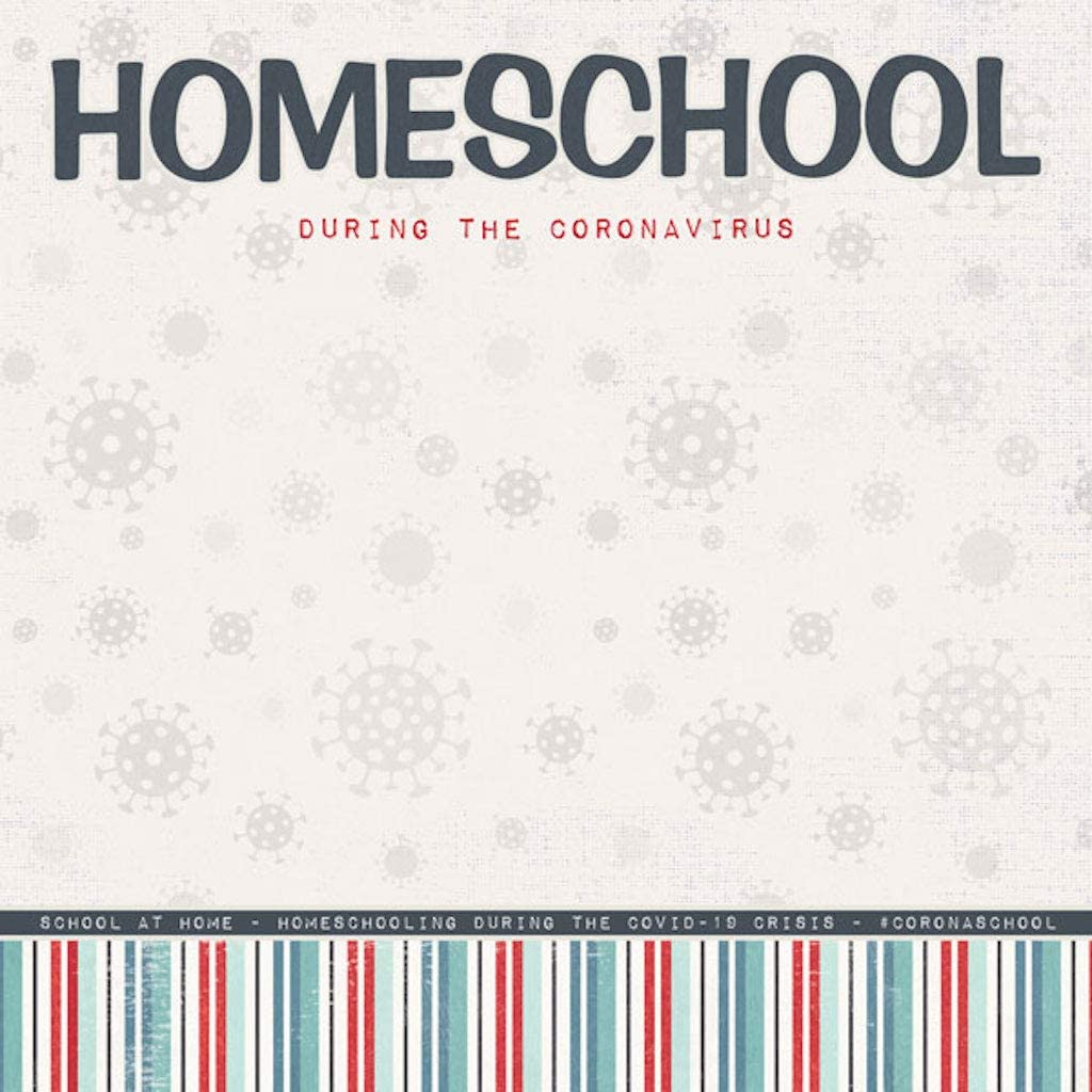 Scrapbook Customs 39874 Covid-19 Title Homeschool Max 63% OFF 1 Double-Sided Max 72% OFF