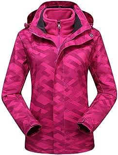 FYXKGLa Ladies Camouflage Jacket Warm Windproof Mountaineering Outdoor Hooded Jacket (Color : Purple, Size : XXL)