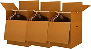 Wardrobe Moving Boxes - Shorty Space Savers - (3 PK) 20x20x34