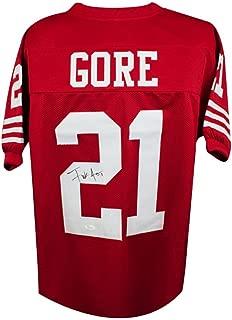 Frank Gore Autographed San Francisco 49ers Custom Red Football Jersey - JSA COA