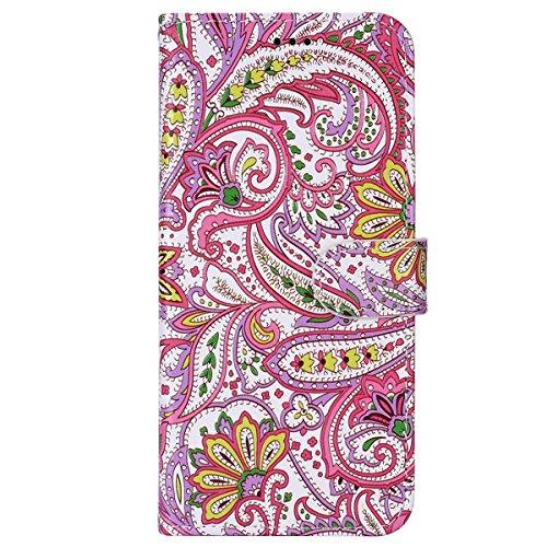 Hnzxy Funda Samsung Galaxy S8 Plus,Carcasa Samsung Galaxy S8 Plus,PU Cuero Flip Libro Billetera Tapa Carcasa con Diseño Soporte Plegable Cierre Magnético Ranura Tarjetas Antigolpes Funda,Flor de chile