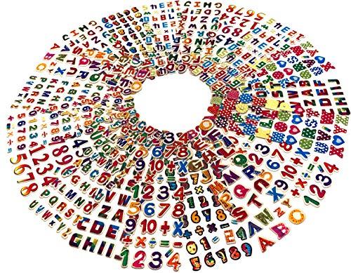 Egero Stickers 3D Alphabet + de 750 Autocollants Chiffres et Lettres Multicolores (20 Planches) Réutilisables pour Enfants Loisirs créatifs, Scrapbooking.