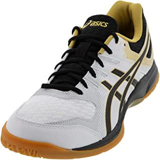 ASICS Gel-Rocket 9 Men's Volleyball Shoes, White/Black, 11.5 M US
