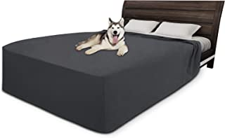 Easy-Going High Stretch Waterproof Pet Bed Cover(Queen,Dark Gray)