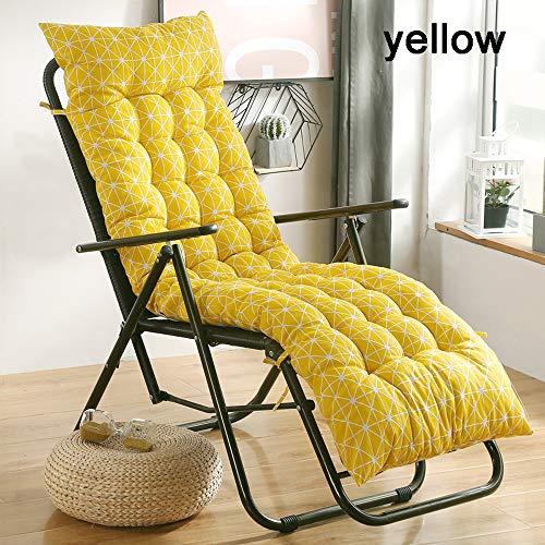 Tuinstoel, kantelbaar, zitkussen voor buitenstoel, hoge rugkussens, zacht en comfortabel, met zachte vulling geschikt voor bureau- en huisstoelen, niet afneembaar, katoen en linnen