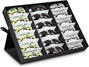 Amzdeal Sunglasses Display Case 18 Pieces Sunglasses Storage