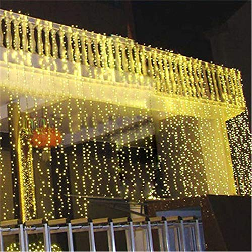 European-Style Non-British Style 6M 3M Light String Curtain Waterproof 600 Lights for Christmas Decorations for Wedding Parties Holiday Decorations