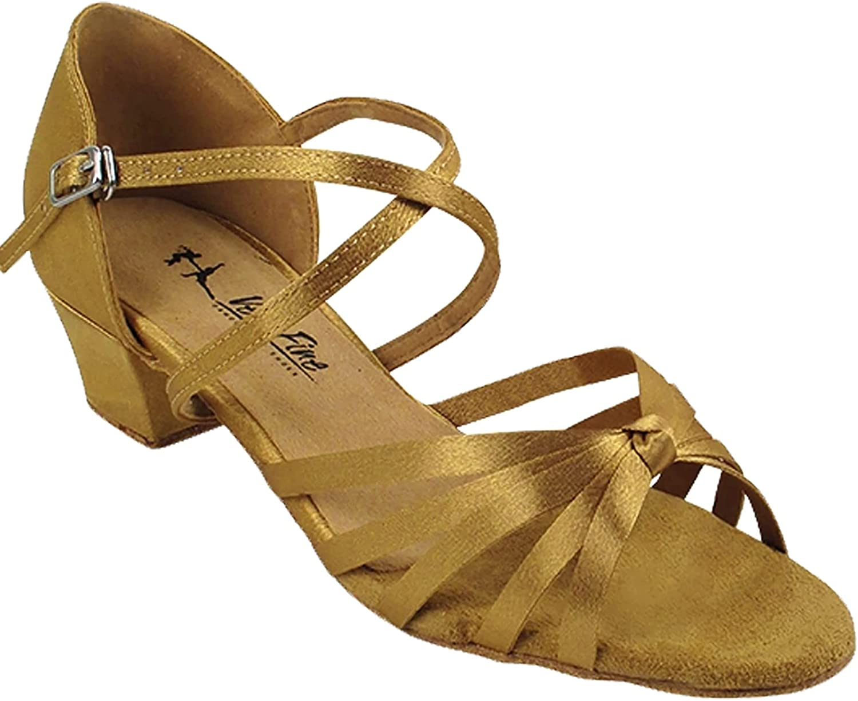 Bundle Women's Ballroom Dance Shoes Salsa Latin Practice Shoes 6005CEB Comfortable-Very Fine 1.5