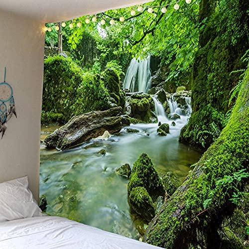 Bosque natural cascada impresión colgante de pared impresión digital 3d tapiz decoración del hogar manta tela colgante A3 180x230cm