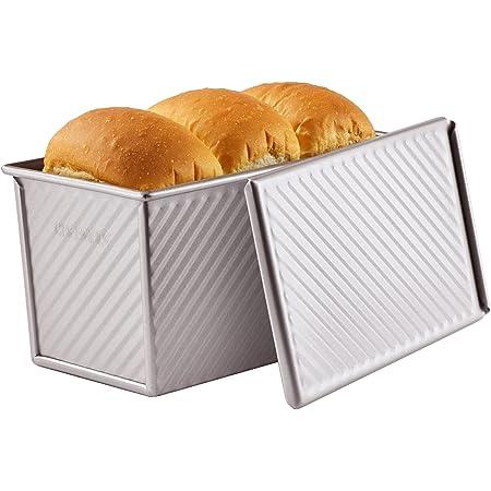 CHEFMADE 食パン 型 デー パン型 フタ付き 波紋型 パン焼 ベイクウェア 粘りにくい食パンケース