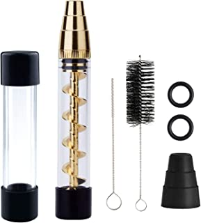 Glass Tube Kit with 2 x Glass bottle 4 x O-Rings 2 x Rubber Caps 2 x Cleaning Brush 1 x Packing Box(Delivery Time:3-5 days) (Gold)