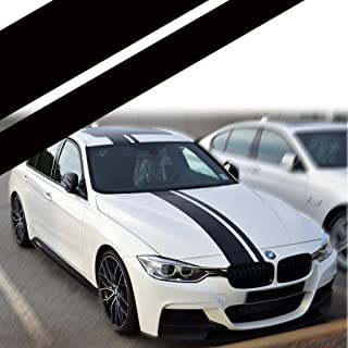 Xotic Tech Right Side JDM Vinyl Decal Sporty Racing Stripe Sticker for BMW 3 Series F30 F31 Hood Roof Rear Trunk Bumper Decor Black