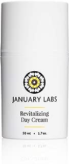 January Labs Skin Essentials Revitalizing Day Cream, Anti-Wrinkle Moisturizer, 1.7 oz. bottle