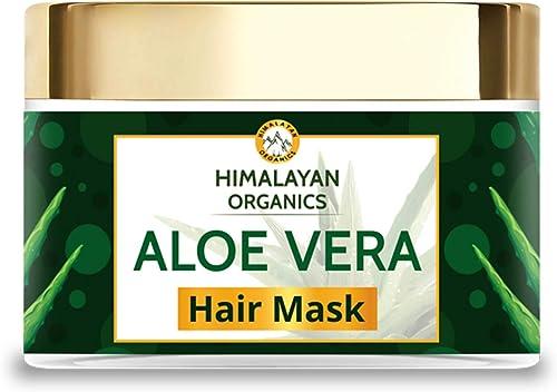 Himalayan Organics Aloevera Hair Mask with Bhringraj   No Parabens & Sulphates - 200ml